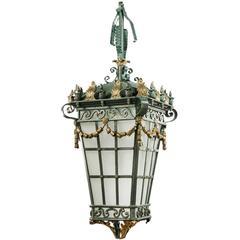 Early 20th Century Bronze Lantern