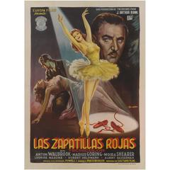 """Red Shoes, The / Las Zapatillas Rojas"" Original Spanish Film Poster"