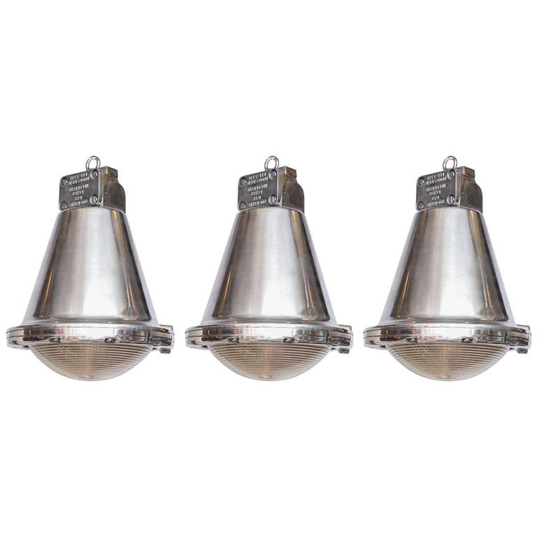 Polished Conical Industrial Lights For Sale