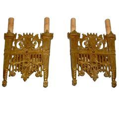 Set of Four Gilt Bronze Sconces