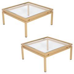 French Pierre Vandel Pair of Side Tables