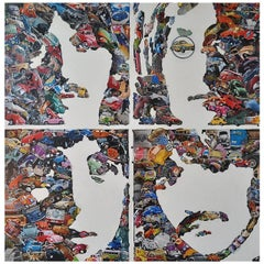 """""""The Beatles"""" Mixed-Media Collage by Dennis Stevens"""