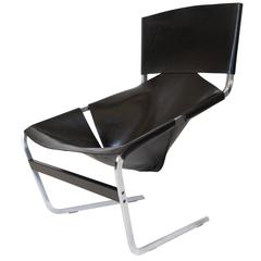 Pierre Paulin Leather Lounge Chair