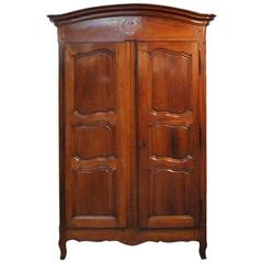 French 18th Century Louis XV Armoire in Walnut
