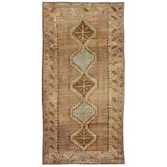 Tribal Turkish Oushak Gallery Rug