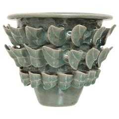 "Paul Briggs ""Foliage Vase 1"" Hand-Pinched Ceramic Vessel"