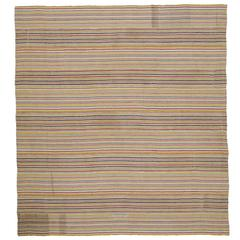 Large Striped Kilim Rug