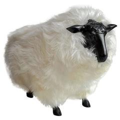 Black and Cream Sheep Stool