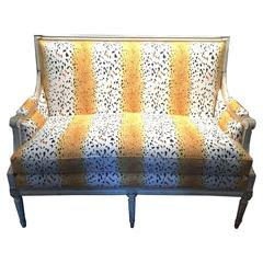 Louis XVI Settee Sofa in Bob Collins Linen