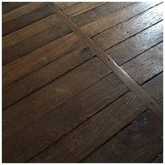 Authentic Reclaimed French Antique Wood Oak Flooring, 17th Century