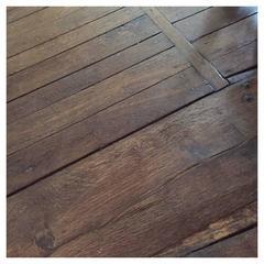 Original French Antique Solid Wood Oak Flooring, 17th-19th Century