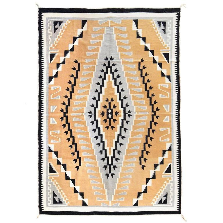 Vintage Navajo Rug, Crystal Trading Post, Mid-20th Century For Sale
