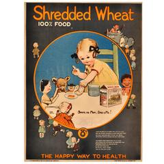 Rare Early Original Advertising Poster by Mabel Lucie Attwell for Shredded Wheat