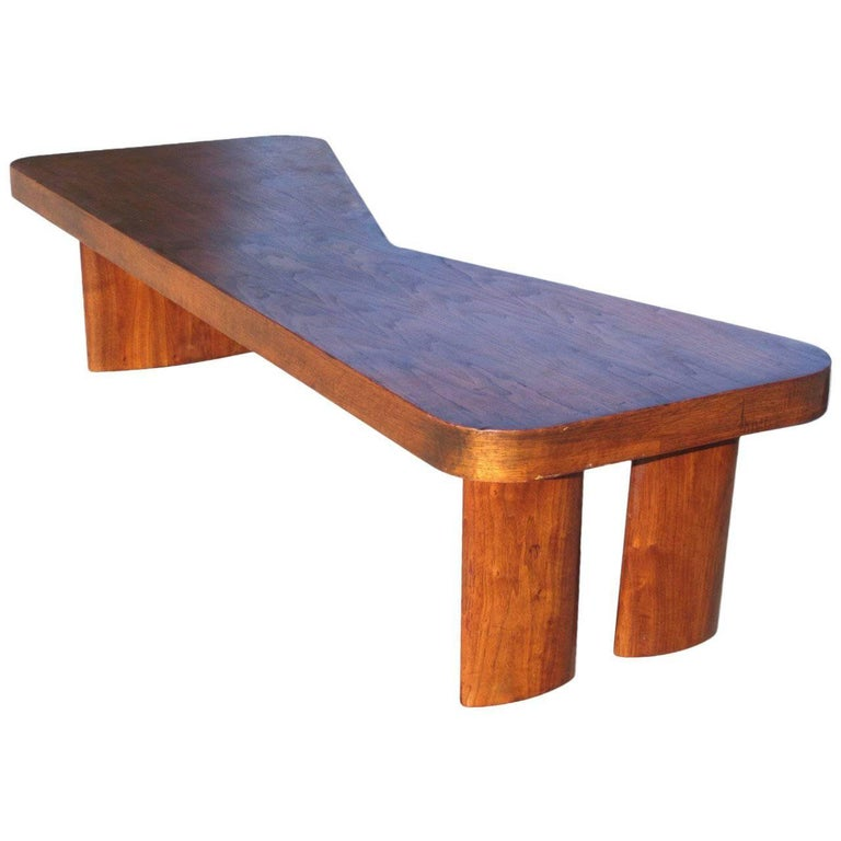 1950s Mid Century Modern Biomorphic Top Coffee Table With Big Foot Legs For Sale At 1stdibs