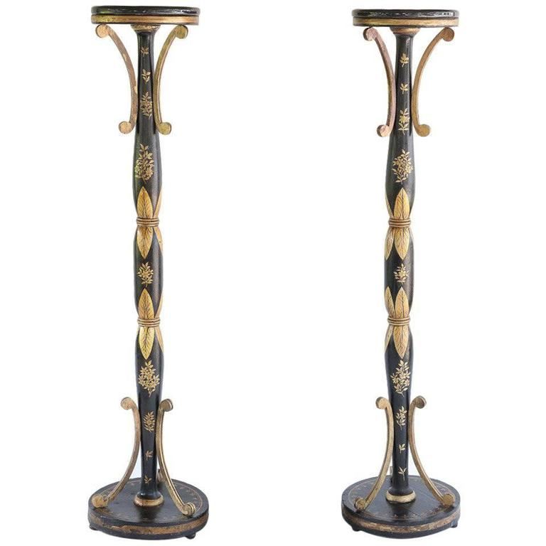 Handsomely Decorated English Regency Torchère For Sale