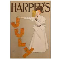 July Harper's Magazine Poster by Edward Penfield, 1894