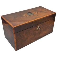 George III Period Mahogany Inlaid Tea Caddy