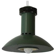 One Green Metal  Industrial Light