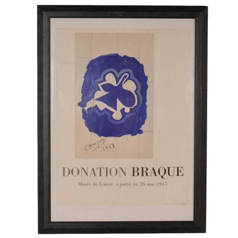 Lithography by Georges Braque for Louvre Museum, Printed by Mourlot in 1965