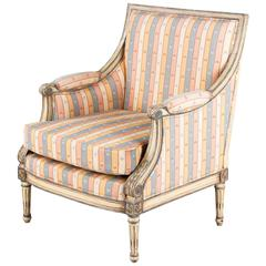 French Louis XVI Style Marquise Armchair, 1950s