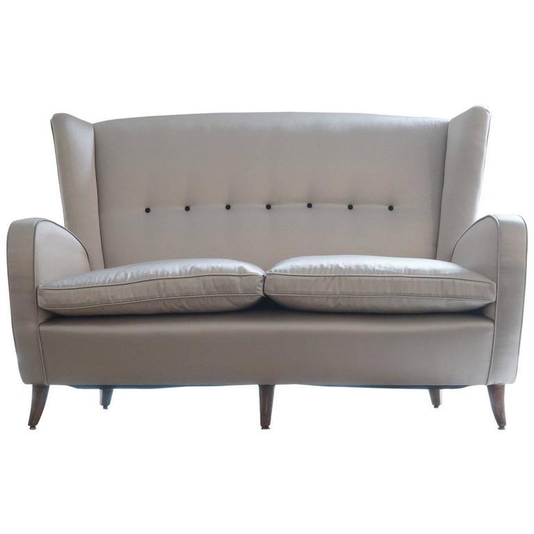 paulo buffa two seat sofa circa 1950 at 1stdibs. Black Bedroom Furniture Sets. Home Design Ideas