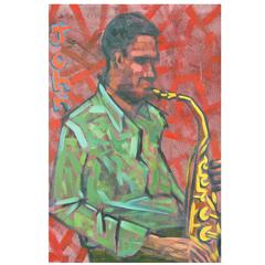 John Coltrane Jazz  Painting