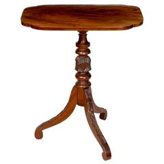 Federal Carved Mahogany Tilt-Top Candlestand, Probably New England, circa 1825