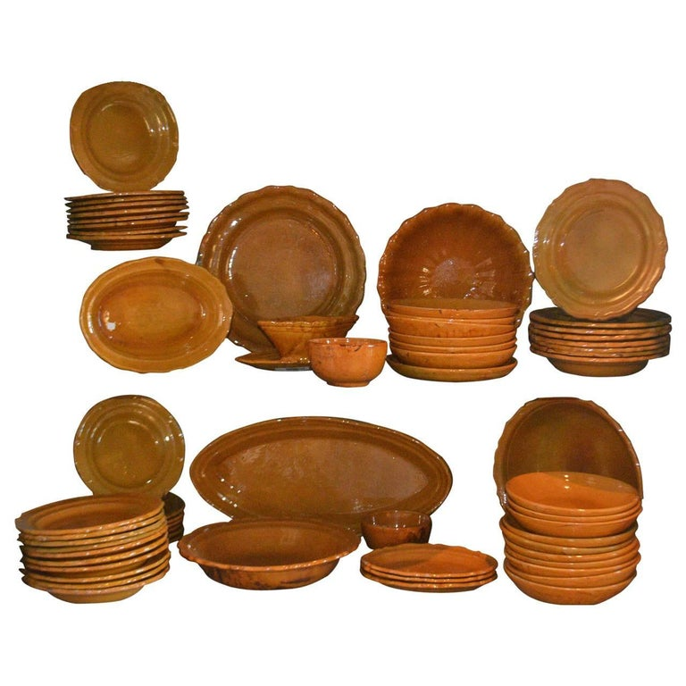 20th Century Faience Tableware For Sale