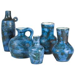 Five Ceramic Pieces by Jacques Blin