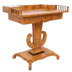 Swedish Karl Johan Biedermeier Writing Table in Birch, circa 1810