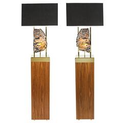 "Pair of Limited Edition ""Pedra"" Floor Lamps by Dragonette Private Label"