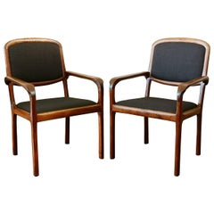 Pair of Studio Craft Walnut Chairs