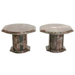 Pair of Vintage Italian Marble Side Tables