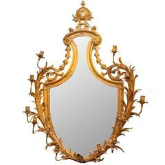 Fine Gilt Bronze Adam Style Girandole Mirror Attributed to Caldwell & Co.