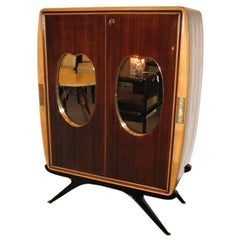 Osvaldo Borsani Attributed Two-Door Mid-Century Bar Cabinet in Rosewood