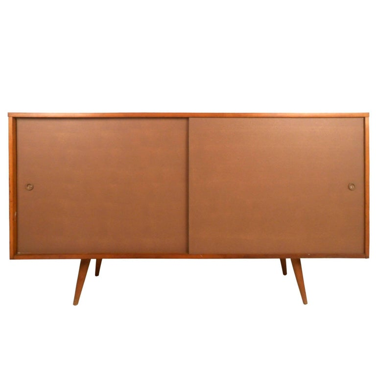 Midcentury Paul McCobb Sliding Door Sideboard