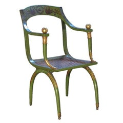 Painted 19th Century Armchair by Jean-Joseph Chapuis