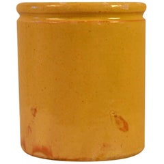 20th Century Enameled Terracotta Pot