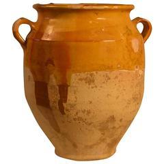 19th Century Yellow Terracotta Confit Jar