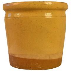 Enameled Terracotta Pot