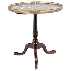 French Louis XVI Marble-Top Pedestal Table