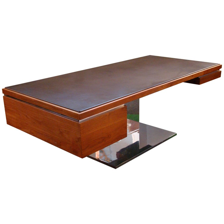 Cantilevered Teak Executive Desk by Warren Platner, 'USA'