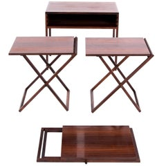 ILLUM WIKKELSO folding table set in rosewood for Silkeborg