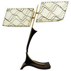 Midcentury Dual Shade Majestic Table Lamp