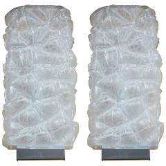 Set of Two Italian Murano Glass Wall Lights