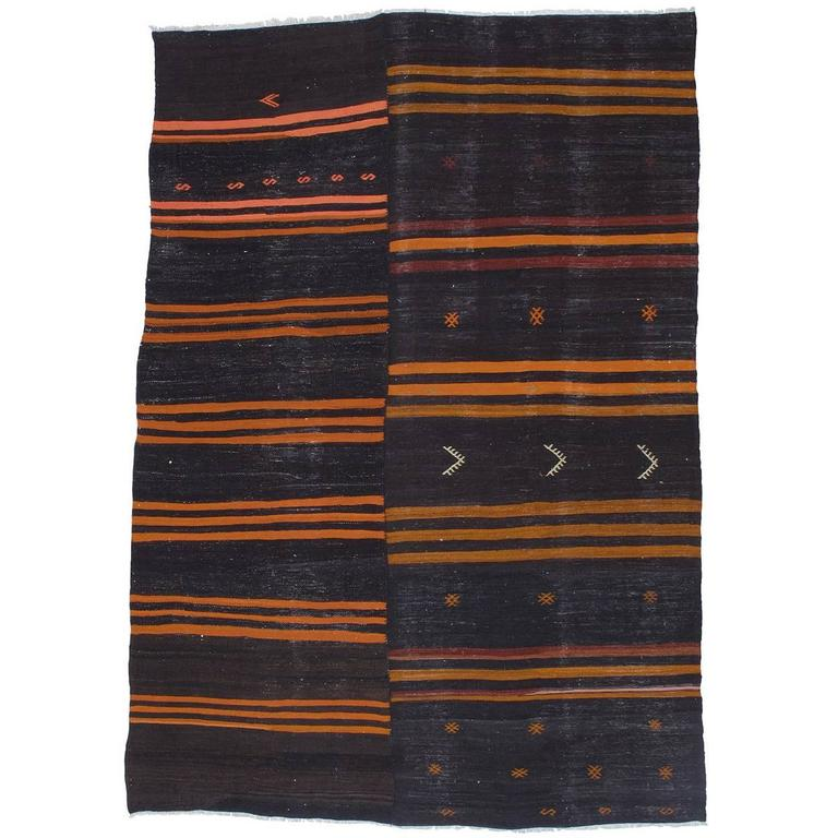 Two-Panel Kilim with Stripes