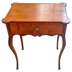 19th Century French Fruitwood End Table