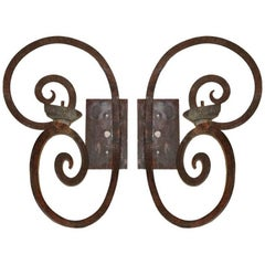 Scrolled Single Arm Wrought Iron Sconce