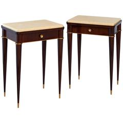 Stunning Pair of 1940's French Side Tables by Batistin Spade