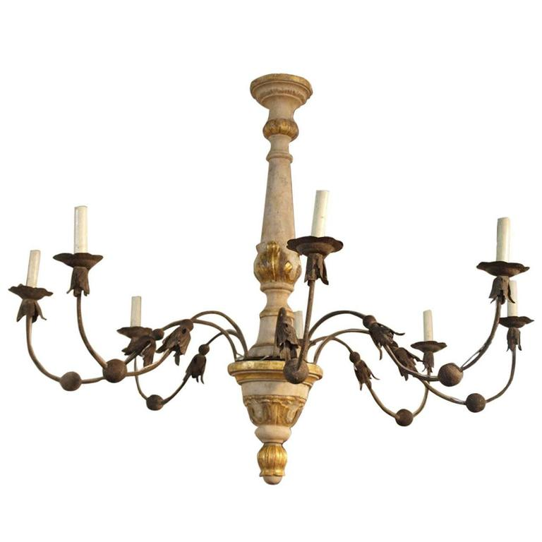 18th Century Italian Eight-Light Chandelier